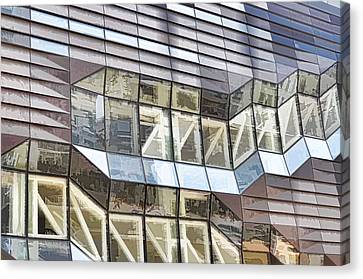 Building Closeup In Manhattan 10 Canvas Print by Lanjee Chee