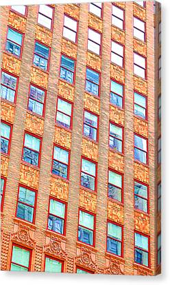 Building Closeup In Manhattan 13 Canvas Print by Lanjee Chee