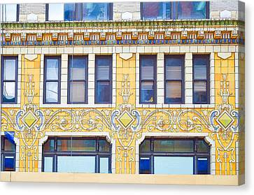 Building Closeup In Manhattan 4 Canvas Print by Lanjee Chee