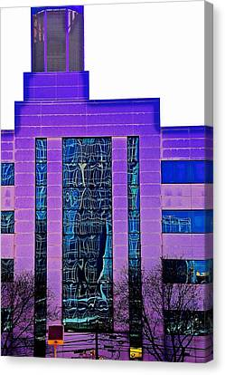 Building In Purple Canvas Print by Gillis Cone