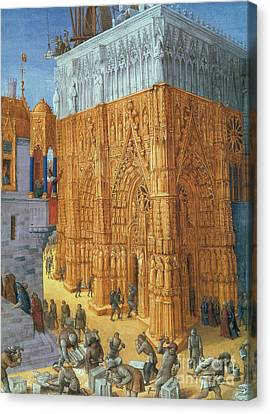 Building Of The Temple Of Jerusalem Canvas Print by Science Source