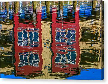 Wavy Canvas Print - Building Reflections by Garry Gay