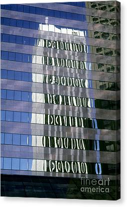 Building Reflections Canvas Print by Tony Freeman