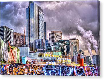 Canvas Print featuring the photograph Building Seattle by Spencer McDonald