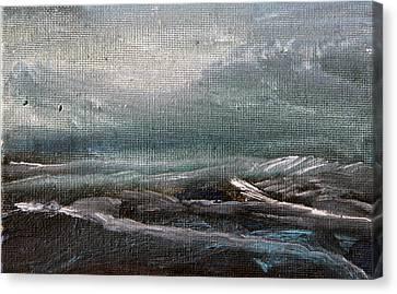 Building Storm Canvas Print by Michael Helfen
