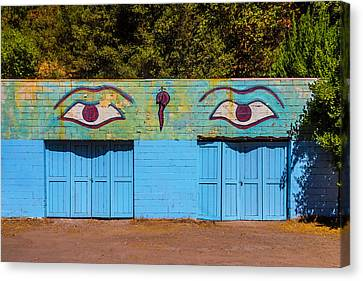 Building With Eyes Canvas Print by Garry Gay