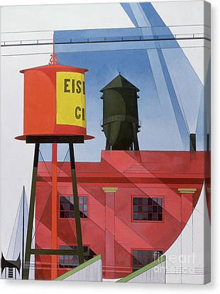 Buildings Abstraction Canvas Print by Charles Demuth