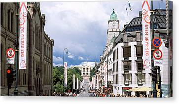 Oslo Canvas Print - Buildings Along A Street With Royal by Panoramic Images