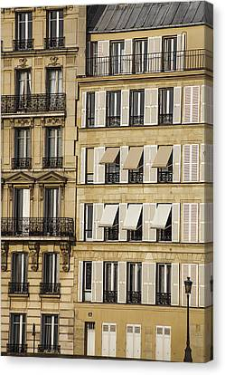 Buildings In Paris Canvas Print by Andrew Soundarajan