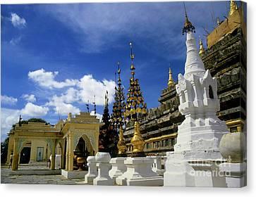 Built Structures Inside Shwezigon Pagoda Canvas Print by Sami Sarkis