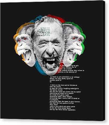 Bukowski's Beast Canvas Print