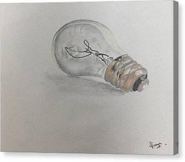 Bulb Canvas Print by Divya Khandelwal