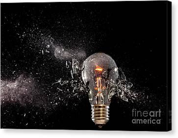 Bulb Glass Explosion Canvas Print