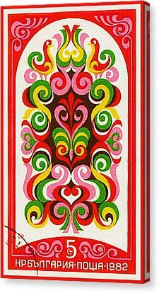 Beauty Mark Canvas Print - Bulgaria Shows 19 Century Fresco 4 by Lanjee Chee
