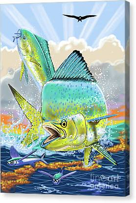 Bull And Cow Mahi Canvas Print