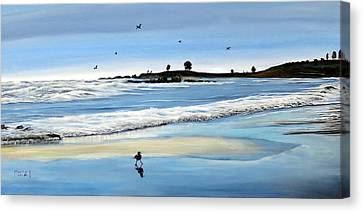 Bull Beach 2 Canvas Print by Marilyn McNish