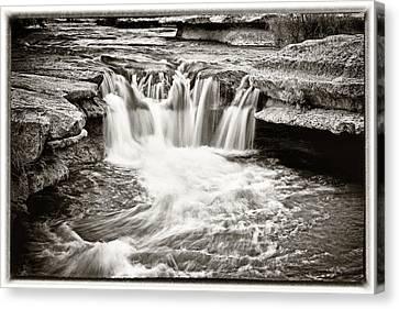 Bull Creek Water Run Canvas Print by Lisa  Spencer