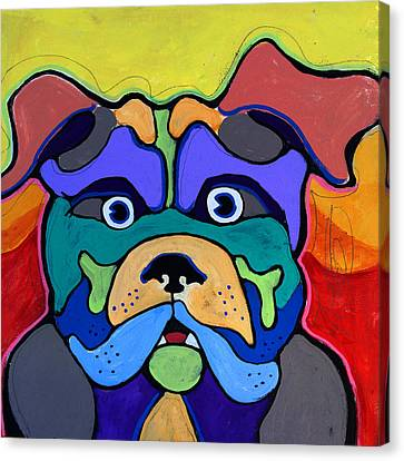 Bull Dog - Don't Give Me Your Lines , And Keep Your Hands To Yourself Canvas Print