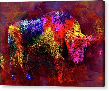 Bull Canvas Print by Elena Kosvincheva
