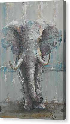 Large Animals Canvas Print - Bull Elephant by John Henne
