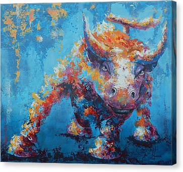 Animal Abstract Canvas Print - Bull Market X by John Henne
