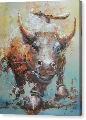 Bull Market Y Portrait Canvas Print by John Henne
