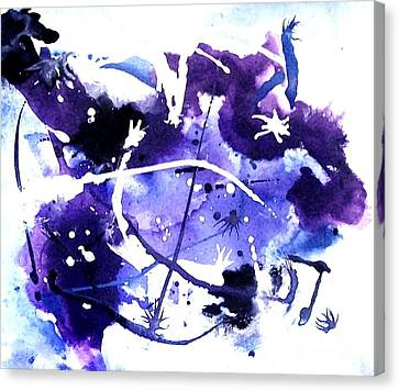 Bull Rider In The Sky Canvas Print by Marsha Heiken