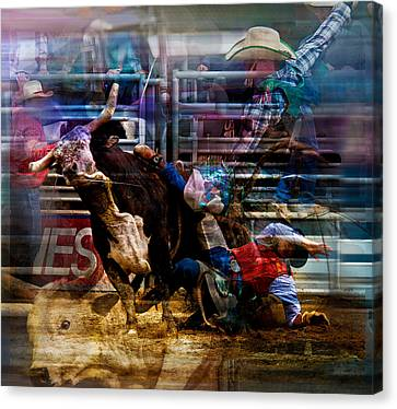 Bull Rider Canvas Print by Mark Courage