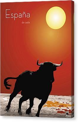 Spanish Bull Run Canvas Print by Quim Abella