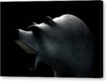 Confronting Canvas Print - Bull Statue by Allan Swart