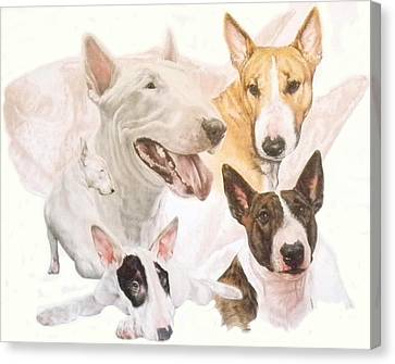 Bull Terrier W/ghost Canvas Print