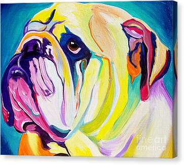 Bulldog - Bully Canvas Print by Alicia VanNoy Call