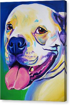 American Bulldog - Luke Canvas Print by Alicia VanNoy Call
