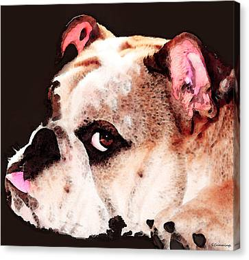 Bulldog Art - Let's Play Canvas Print