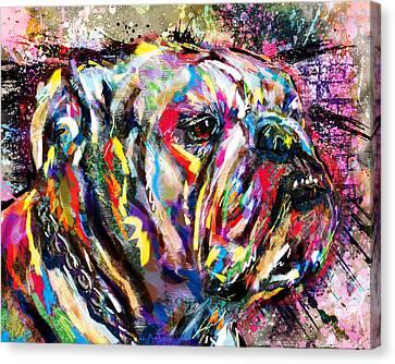 Bulldog Art Canvas Print