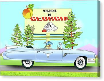 Bulldog Country Canvas Print by Lynn Rider