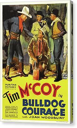 Tim Canvas Print - Bulldog Courage 1935 by Mountain Dreams