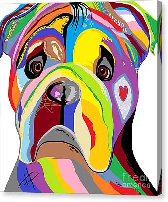 Bulldog Canvas Print by Eloise Schneider