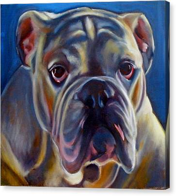 Bulldog Expression 2 Canvas Print by Kaytee Esser