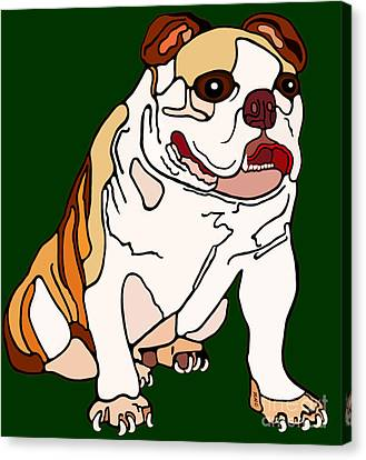 Bulldog Canvas Print by Marian Cates