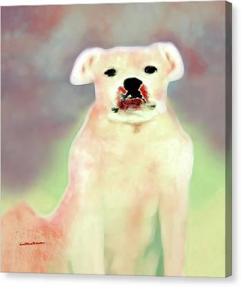 Buy Dog Art Canvas Print - Bulldog Rana Art 43 by Miss Pet Sitter