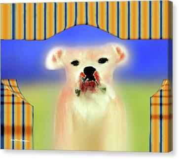 Buy Dog Art Canvas Print - Bulldog Rana Art 72 by Miss Pet Sitter