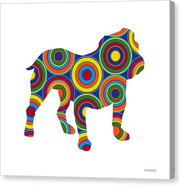 Animal Abstract Canvas Print - Bulldog by Ron Magnes