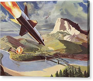Bullpup Air To Surface Missile Canvas Print
