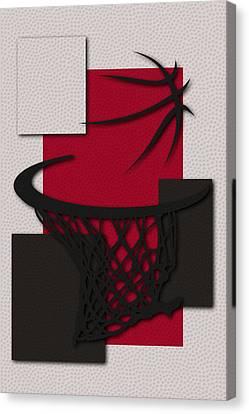 Bulls Hoop Canvas Print by Joe Hamilton