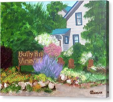 Bully Hill Vineyard Canvas Print by Cynthia Morgan