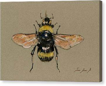 Decoration Canvas Print - Bumble Bee Art Wall by Juan  Bosco
