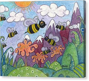 Bumble Bee Buzz Canvas Print by Tanielle Childers