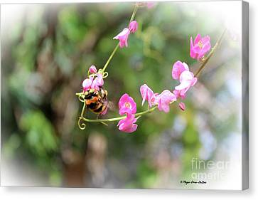 Canvas Print featuring the photograph Bumble Bee2 by Megan Dirsa-DuBois