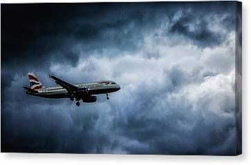 Jet Set Canvas Print - Bumpy Landing by Martin Newman